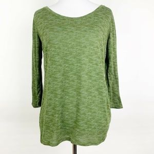 Zella Olive Heather Green Open Back Athletic Top